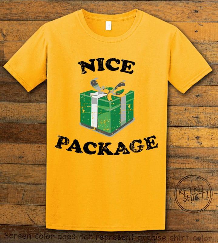 Nice Package Christmas T Shirt - yellow shirt design