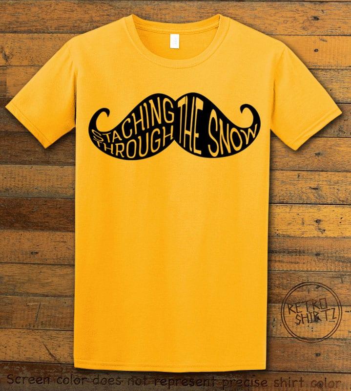 Staching Through The Snow Graphic T-Shirt - yellow shirt design