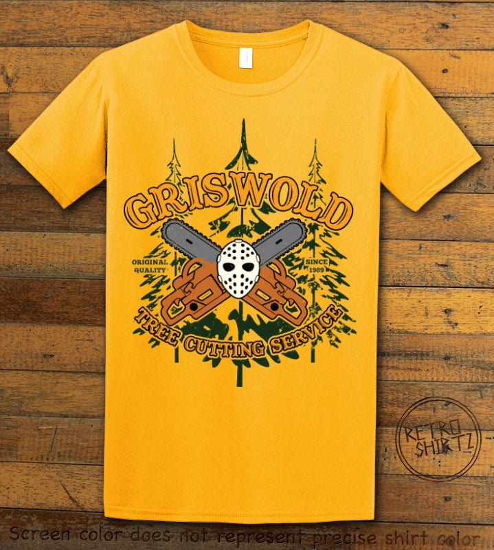 Griswold Tree Cutting Service Graphic T-Shirt - yellow shirt design
