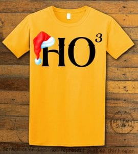 Ho Cubed - Graphic T-Shirt - yellow shirt design