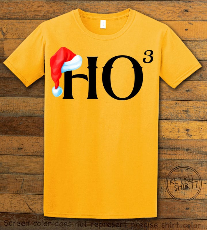 Ho Cubed - Graphic T-Shirt - yellow shirt design