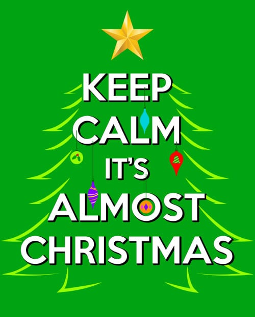 Keep Calm It's Almost Christmas Graphic T-Shirt main vector