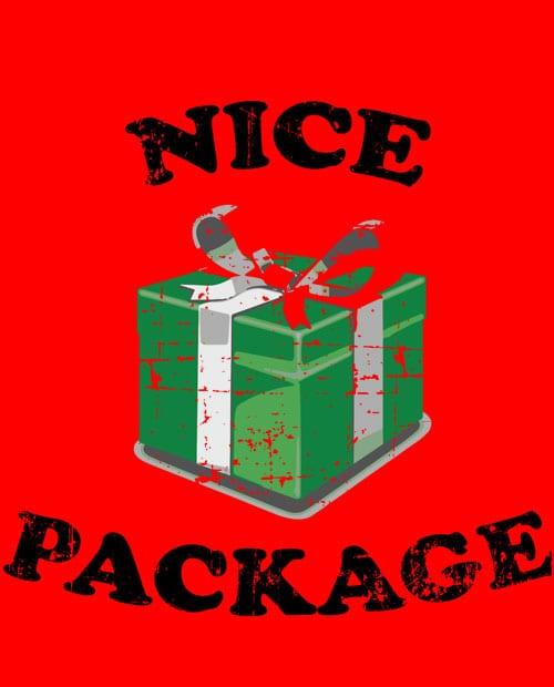 Nice Package Christmas T Shirt main vector