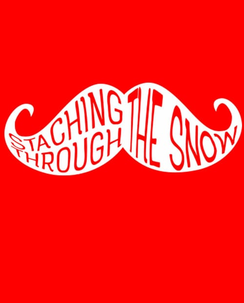 Staching Through The Snow Graphic T-Shirt main vector design