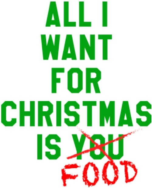 All I want for christmas is food Graphic T-Shirt main vector design