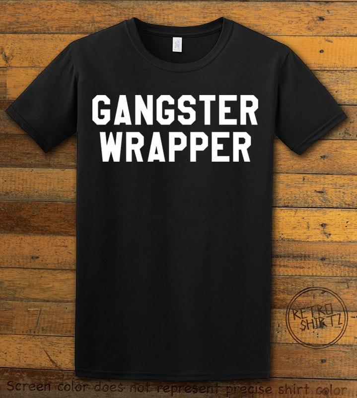 Gangster Wrapper Graphic T-Shirt - black shirt design