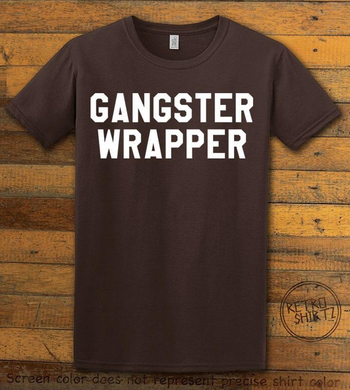 Gangster Wrapper Graphic T-Shirt - brown shirt design