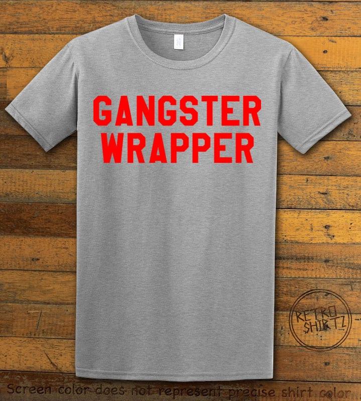 Gangster Wrapper Graphic T-Shirt - gray shirt design