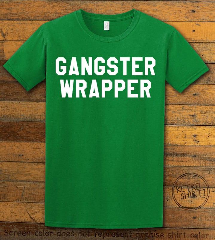 Gangster Wrapper Graphic T-Shirt - green shirt design