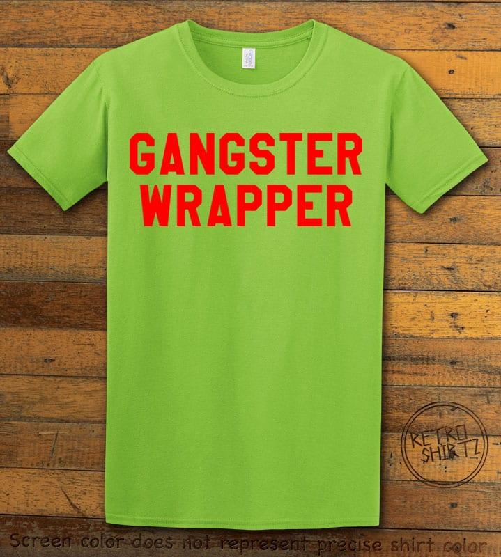 Gangster Wrapper Graphic T-Shirt - lime shirt design