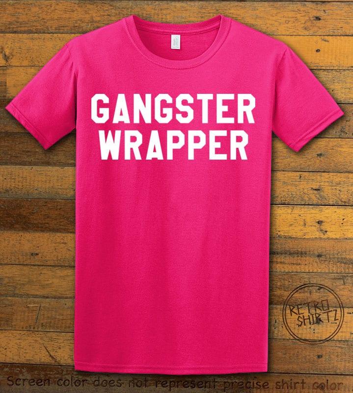 Gangster Wrapper Graphic T-Shirt - pink shirt design