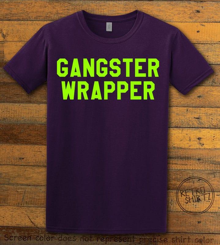 Gangster Wrapper Graphic T-Shirt - purple shirt design