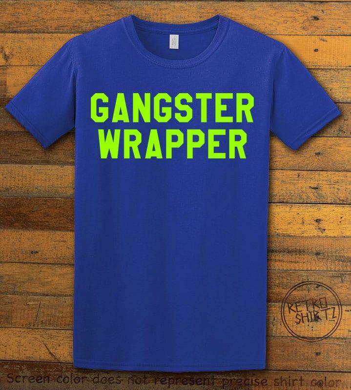 Gangster Wrapper Graphic T-Shirt - royal shirt design