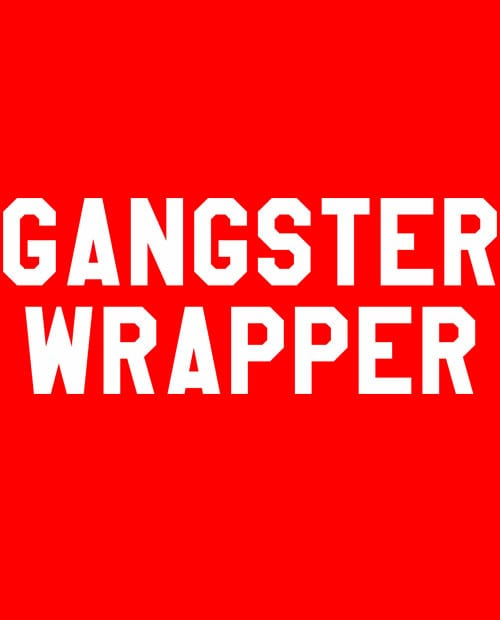 Gangster Wrapper Graphic T-Shirt main vector design