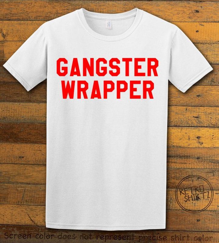 Gangster Wrapper Graphic T-Shirt - white shirt design