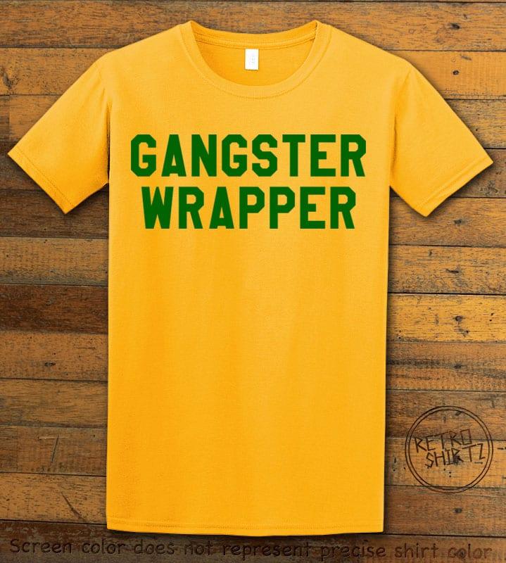 Gangster Wrapper Graphic T-Shirt - yellow shirt design