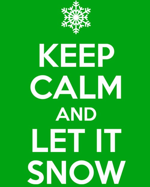 Keep Calm and Let it Snow Graphic T-Shirt main vector design