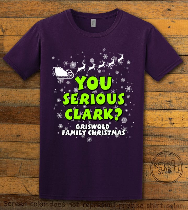You Serious Clark? Graphic T-Shirt - purple shirt design