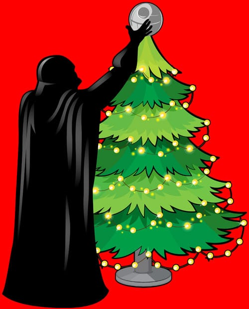 Star Wars Christmas Tree Graphic T-Shirt main vector design