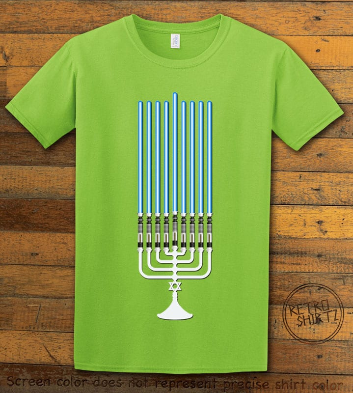 Star Wars Menorah Graphic T-Shirt - lime shirt design