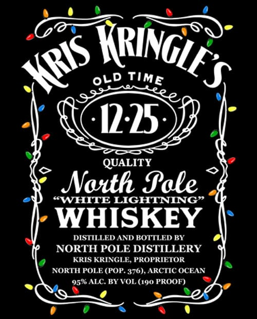 Kris Kringle's Whiskey Graphic T-Shirt main vector design