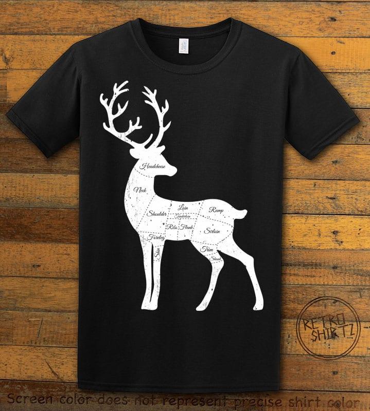 Reindeer Meat Graphic T-Shirt - black shirt design