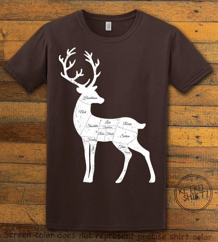 Reindeer Meat Graphic T-Shirt - brown shirt design