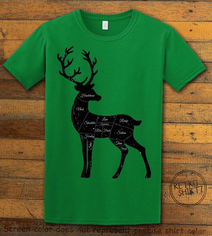 Reindeer Meat Graphic T-Shirt - green shirt design