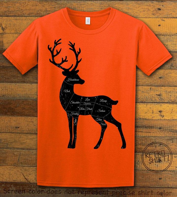 Reindeer Meat Graphic T-Shirt - orange shirt design
