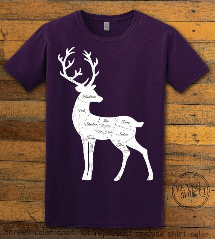 Reindeer Meat Graphic T-Shirt - purple shirt design
