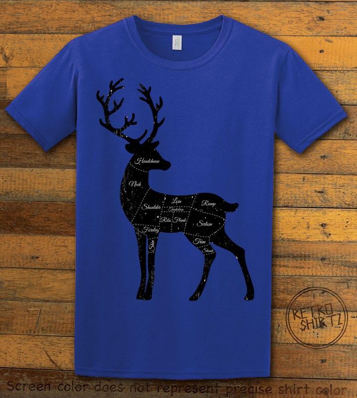 Reindeer Meat Graphic T-Shirt - royal shirt design
