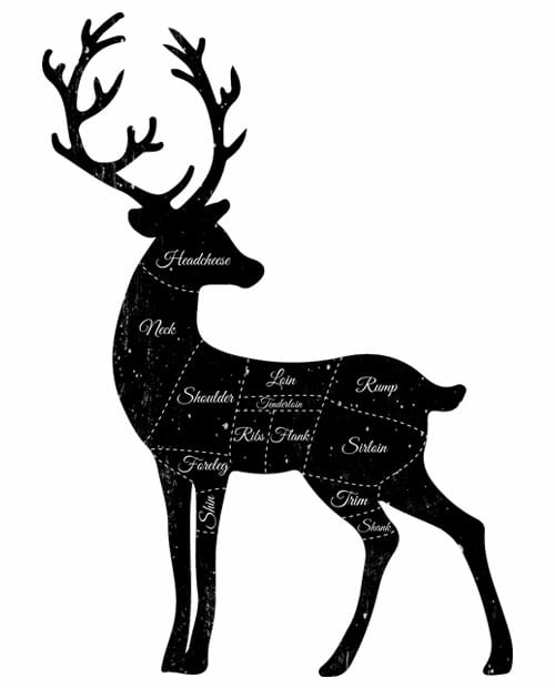 Reindeer Meat Graphic T-Shirt main vector design