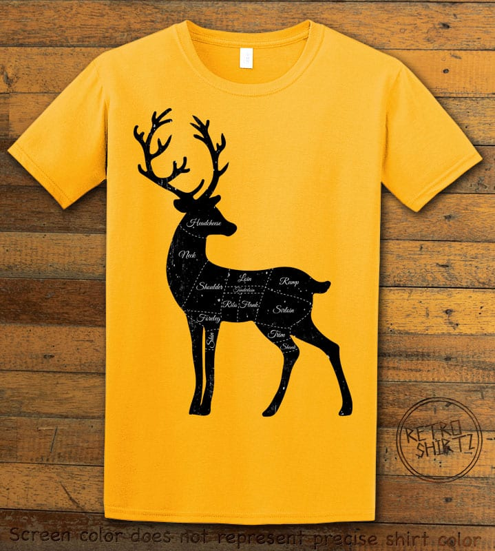 Reindeer Meat Graphic T-Shirt - yellow shirt design