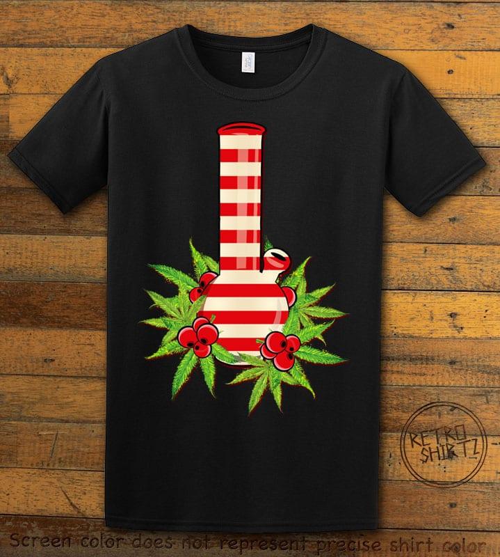 Christmas Bong Graphic T-Shirt - black shirt design