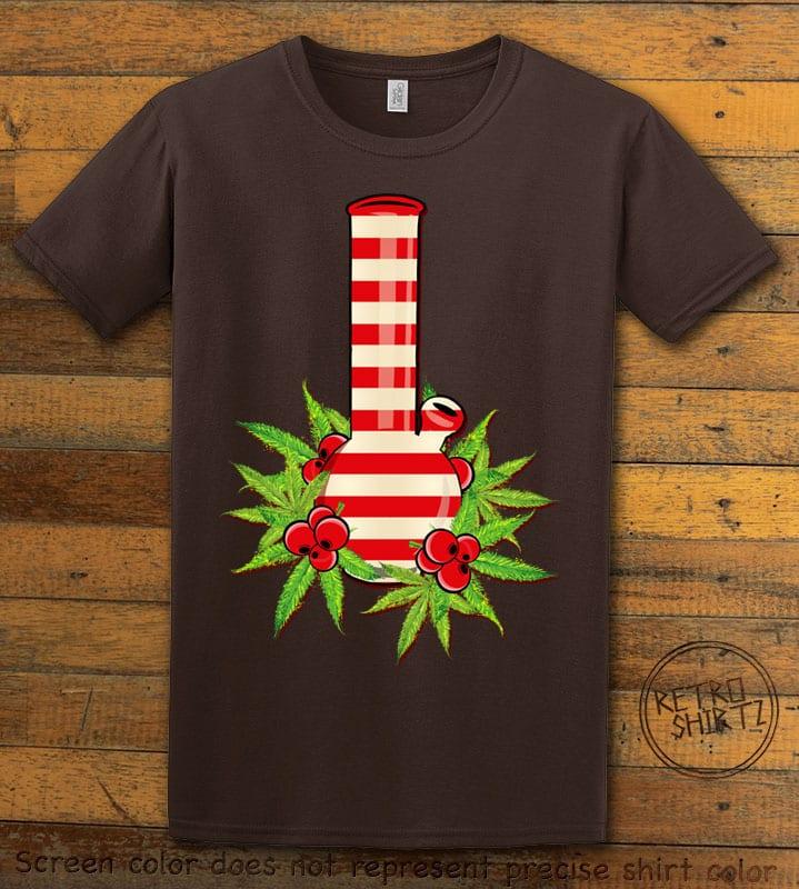 Christmas Bong Graphic T-Shirt - brown shirt design