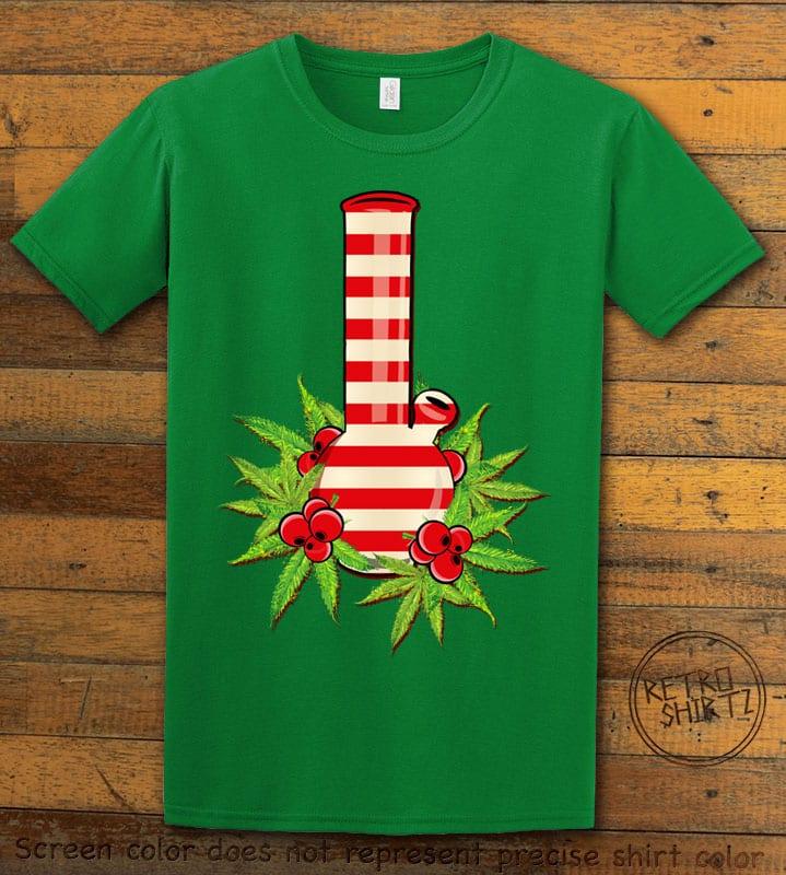 Christmas Bong Graphic T-Shirt - green shirt design