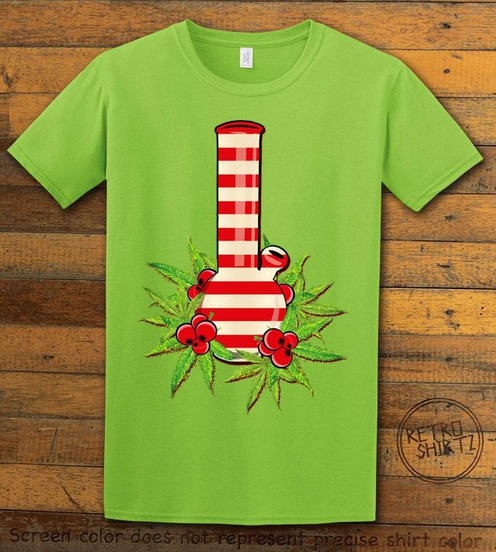 Christmas Bong Graphic T-Shirt - lime shirt design
