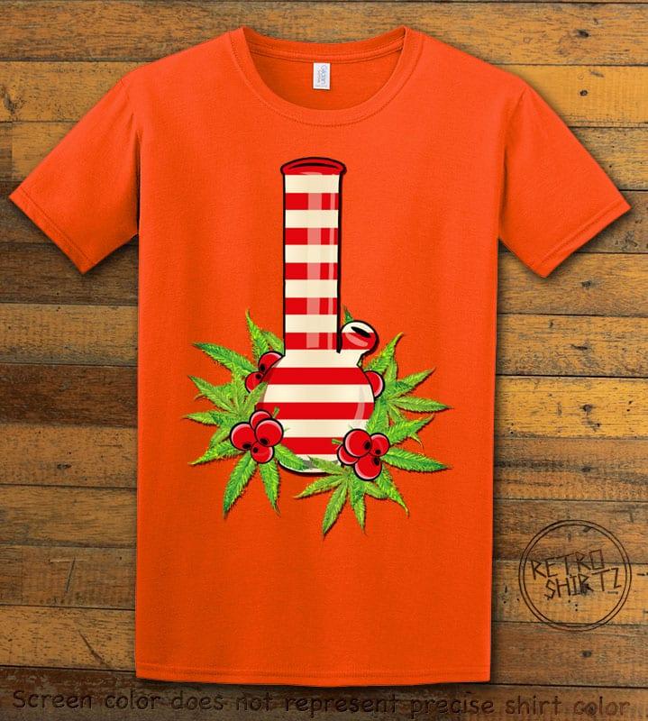 Christmas Bong Graphic T-Shirt - orange shirt design