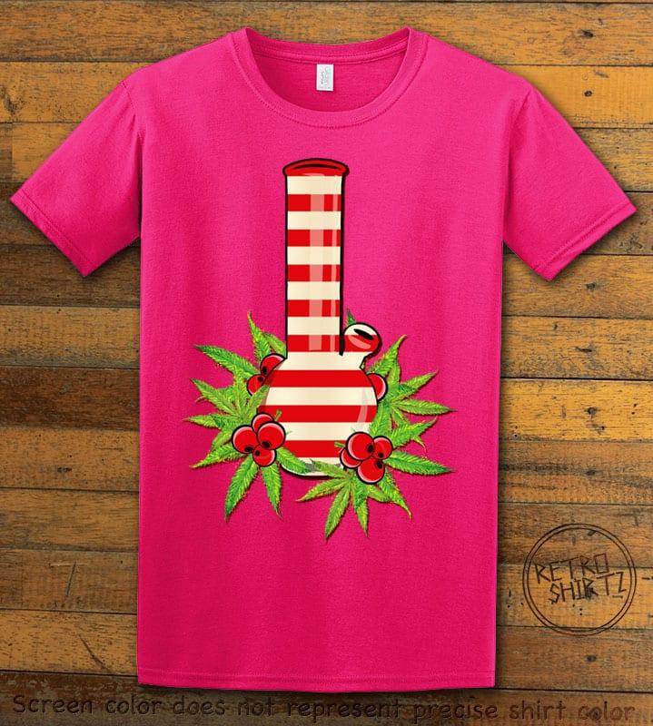 Christmas Bong Graphic T-Shirt - pink shirt design
