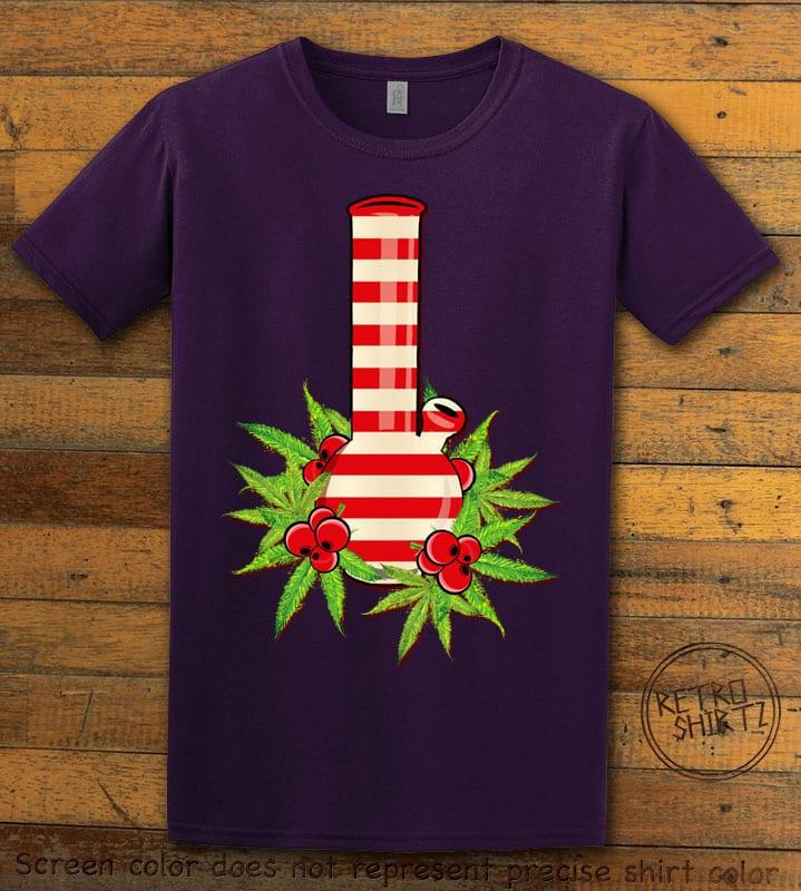 Christmas Bong Graphic T-Shirt - purple shirt design