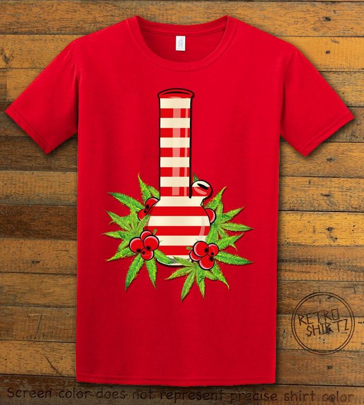 Christmas Bong Graphic T-Shirt - red shirt design
