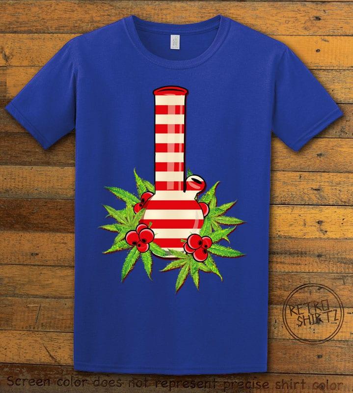 Christmas Bong Graphic T-Shirt - royal shirt design