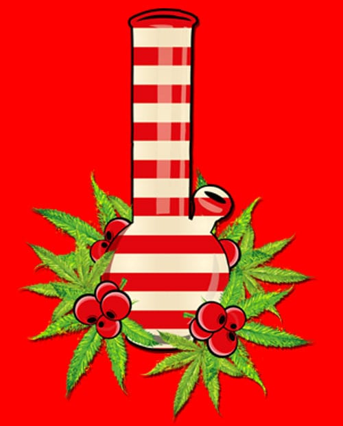 Christmas Bong Graphic T-Shirt main vector design