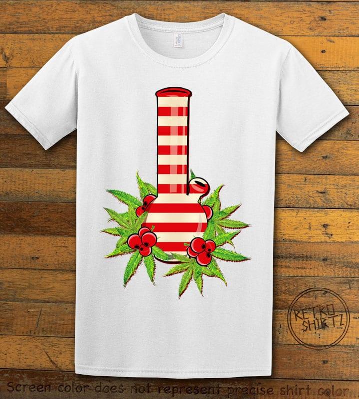 Christmas Bong Graphic T-Shirt - white shirt design