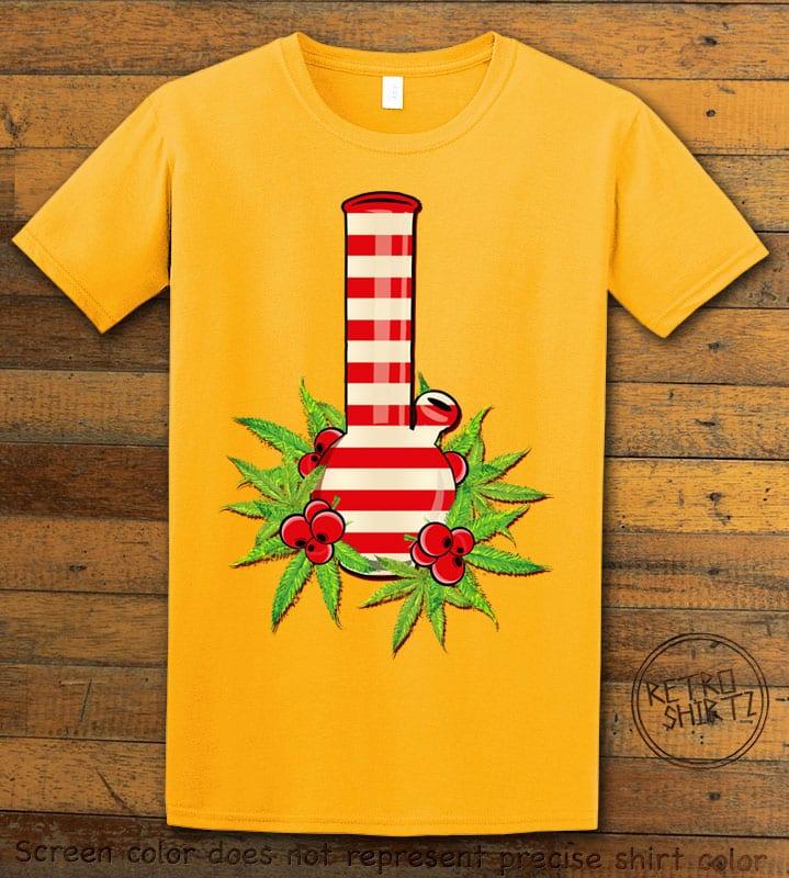 Christmas Bong Graphic T-Shirt - yellow shirt design