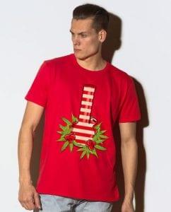 Christmas Bong Christmas Party Shirt - red shirt design on a model