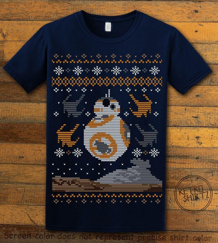 BB8 Graphic T-Shirt - navy shirt design