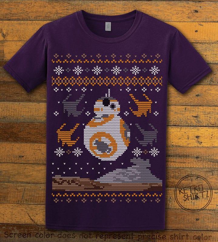 BB8 Graphic T-Shirt - purple shirt design