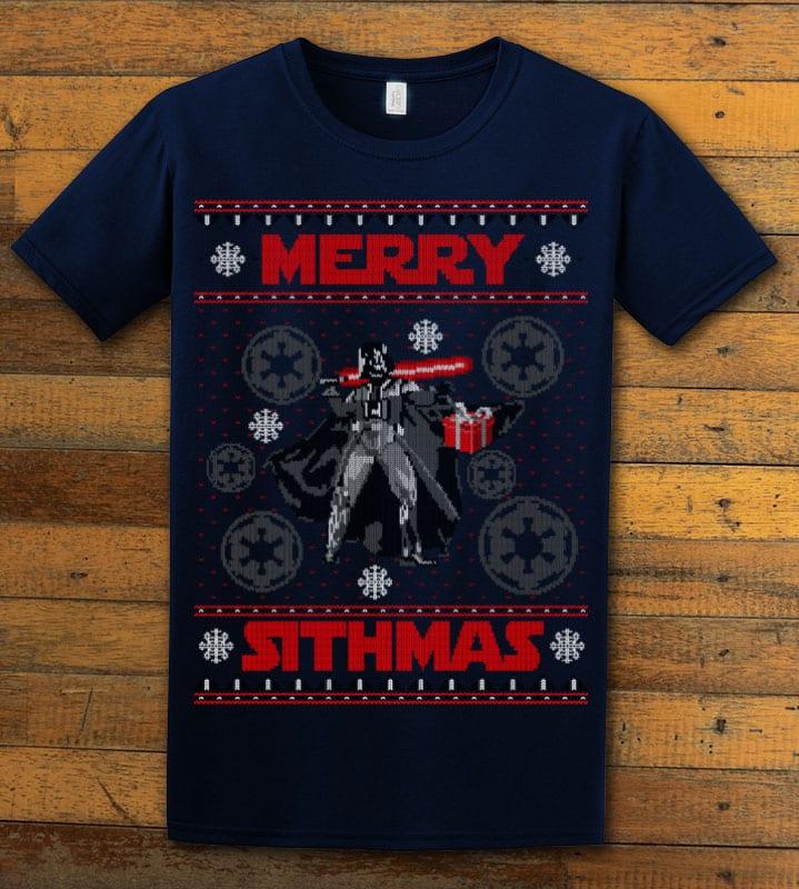 Merry Sithmas Graphic T-Shirt - navy shirt design