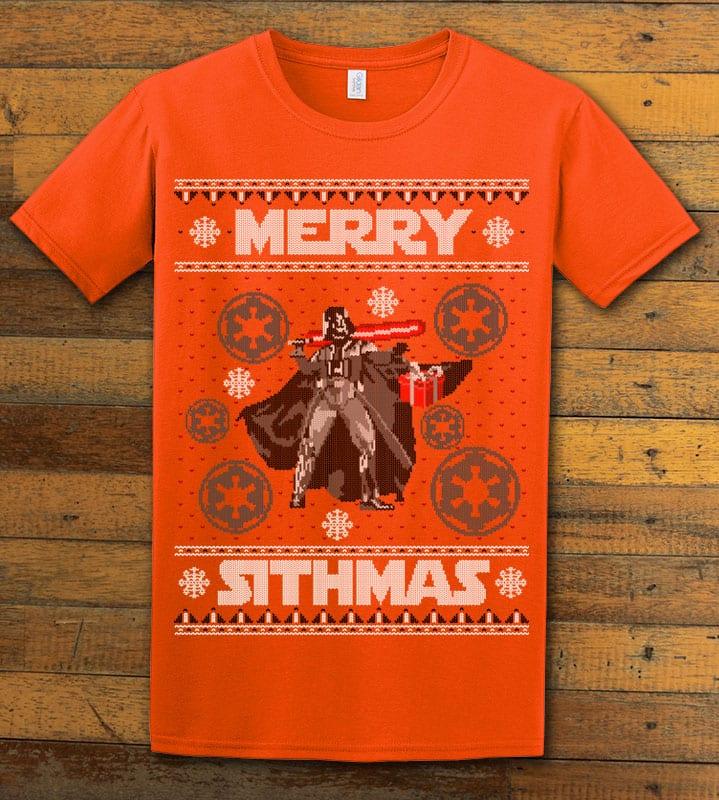 Merry Sithmas Graphic T-Shirt - orange shirt design
